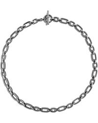 David Yurman - 'chain' Cushion Link Necklace With Blue Sapphires - Lyst