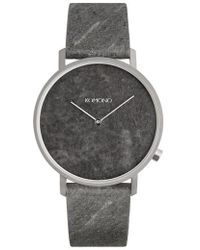 Komono - The Lewis Slate Leather Strap Watch - Lyst