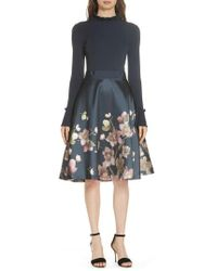 Ted Baker - Seema Arboretum Dress - Lyst