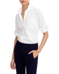 J.Crew | J.crew New Perfect Cotton Poplin Shirt | Lyst