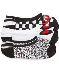 Vans 3-pack Canoodle Rose Motif Socks, Black