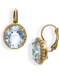 Sorrelli Crystal & Ball Chain Earrings - Blue
