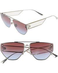 914658252ec0 Gucci 59mm Aviator Sunglasses - Palladium/ Grey Mirror in Metallic - Lyst