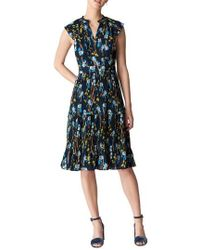 Whistles - Celia Iris Pleat Dress - Lyst