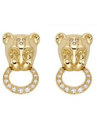 Temple St. Clair | Temple St. Clair Lion Cub Diamond Stud Earrings | Lyst