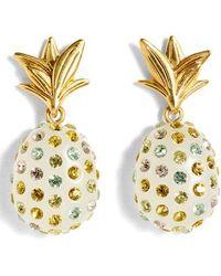 J.Crew - Sparkle Pineapple Drop Earrings - Lyst