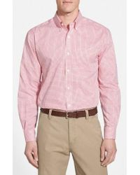 Cutter & Buck | 'epic Easy Care' Classic Fit Wrinkle Free Tattersall Plaid Sport Shirt | Lyst