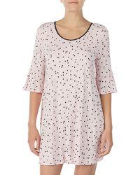 Kate Spade Bell Cuff Sleep Shirt - Pink