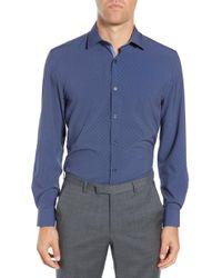 W.r.k. - Trim Fit Performance Stretch Dot Dress Shirt - Lyst