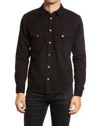 Billy Reid Denim Western Shirt - Black
