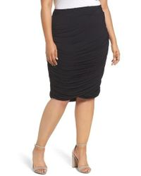 REBEL WILSON X ANGELS - Ruched Jersey Knit Skirt - Lyst