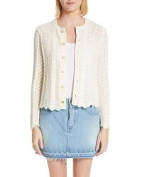 Marc Jacobs - Scallop Edge Cashmere & Wool Blend Cardigan - Lyst
