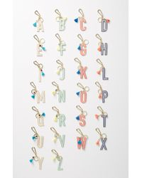 Anthropologie - Juniper Monogram Key Chain - Metallic - Lyst