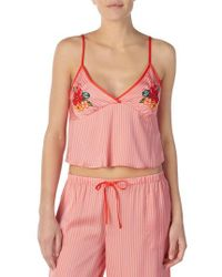 Room Service Cropped Satin Camisole - Pink