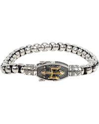 Konstantino Trident Chain Bracelet - Metallic