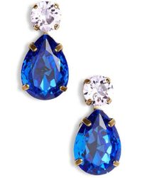 Sorrelli - Teardrop Crystal Earrings - Lyst