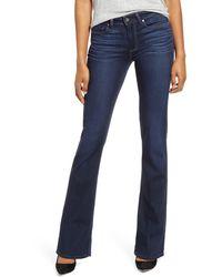 PAIGE Transcend - Manhattan Bootcut Jeans - Blue
