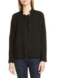 Eileen Fisher Textured Jacket - Black