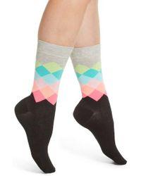 Happy Socks - Faded Diamond Crew Socks - Lyst