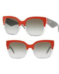 Burberry - 56mm Cat Eye Sunglasses - - Lyst