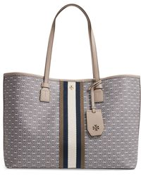 Tory Burch Gemini Link Canvas Tote - Gray