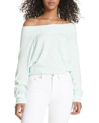 Free People Palisades Off The Shoulder Top - Purple