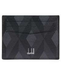 Dunhill - Cadogan Diamond Print Leather Card Case - Lyst