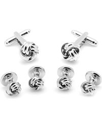 Ox and Bull Trading Co. Silver Knot Stud Set - Metallic
