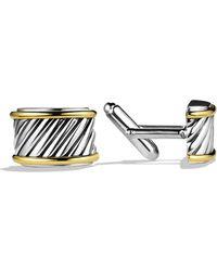 David Yurman - Cable Cigar Band Cufflinks With Gold - Lyst