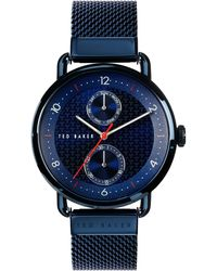 Ted Baker Brixam Multifunction Mesh Strap Watch - Blue