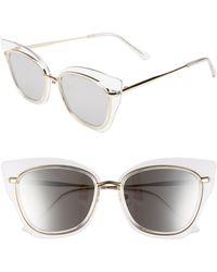 Glance Eyewear 55mm Clear Winged Cat Eye Sunglasses - - Multicolor