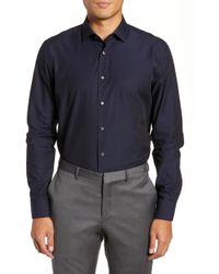 Calibrate - Trim Fit Microdot Dress Shirt - Lyst