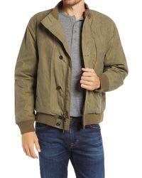 Billy Reid Organic Cotton Flight Bomber Jacket - Green