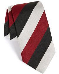 Gitman Brothers Vintage Stripe Silk Tie - Black
