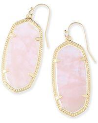 Kendra Scott 'elle' Drop Earrings - Pink