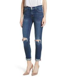 L'Agence - Rachel Ripped Crop Slim Fit Jeans - Lyst