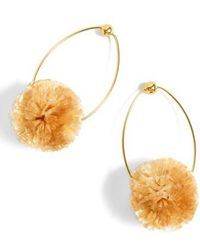 J.Crew - Raffia Pom-pom Earrings - Lyst
