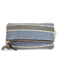 Sole Society - Medina Fabric Foldover Clutch - - Lyst