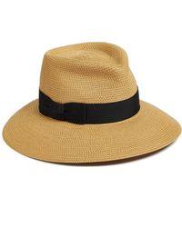 Eric Javits 'phoenix' Packable Fedora Sun Hat - Black