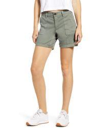 Tinsel Bermuda Shorts - Green