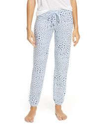 Pj Salvage Peach Party Lounge Pants - Blue