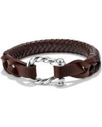 David Yurman - 'maritime' Leather Woven Shackle Bracelet - Lyst