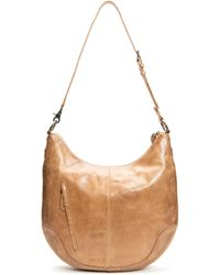 Frye Melissa Scooped Hobo Bag - Natural