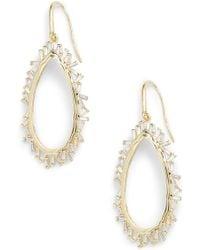 Melinda Maria - Emily Open Drop Earrings - Lyst