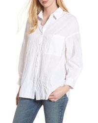 Stateside - Oversize Button Front Shirt - Lyst