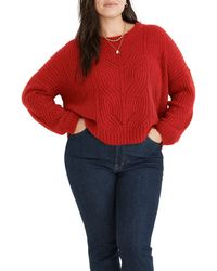 Madewell Charley Pullover Sweater - Red