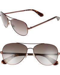 cba4d9b4c6 Lyst - Kate Spade Briar Polarized Sunglasses in Brown