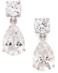 Nadri - Cubic Zirconia Teardrop Earrings - Lyst