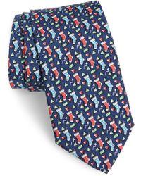 Vineyard Vines Stockings Silk Tie - Blue