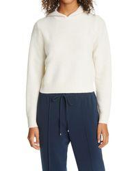 Club Monaco Boiled Cashmere Crop Hoodie - White